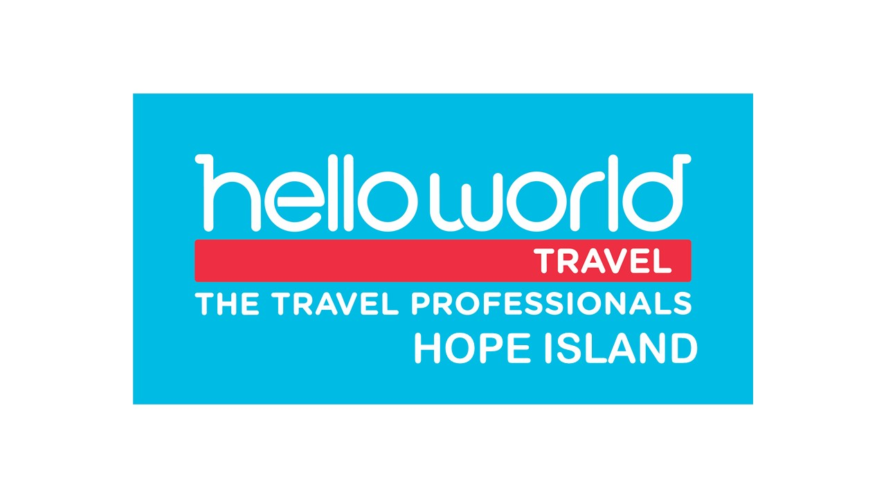 Helloworld Travel Hope Island Logo